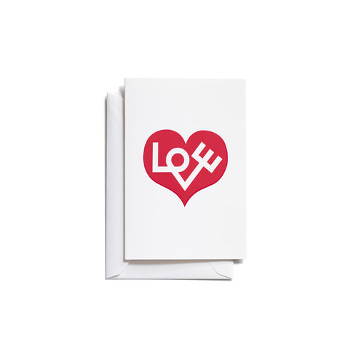 [Vitra] Greeting Cards_Love Heart (Red)