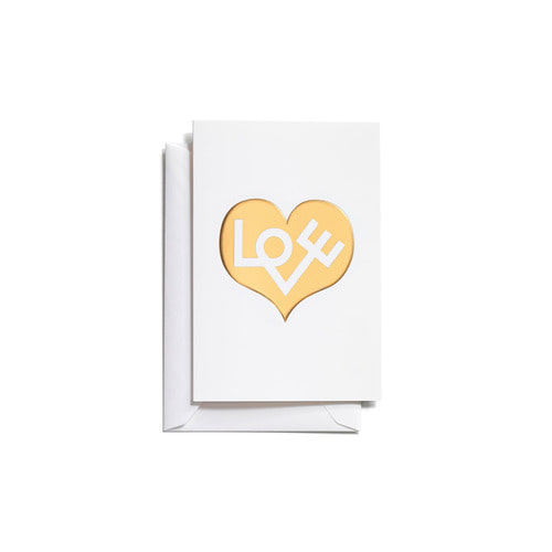 [Vitra] Greeting Cards_Love Heart (Gold)